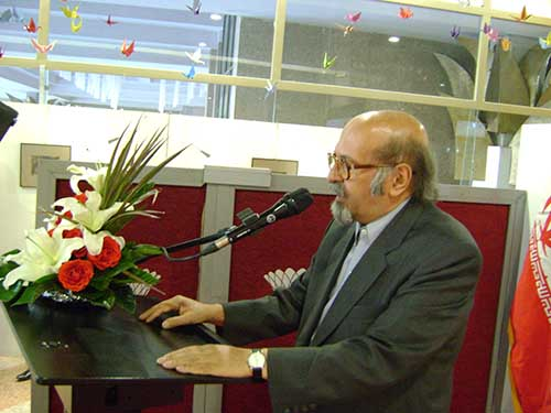 سخنرانی استاد غلامرضا سحاب عضو هیئت موسس